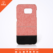 Alibaba China Factory Canvas and PU Leather mobile case fit for Samsung Galaxy S6