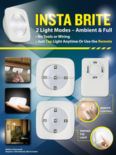 Insta Brite Touch Light with remote control