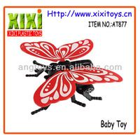 Best Selling Pull Back Plastic Butterfly Toy For Kid
