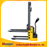 1-2 Tons AC Pedestrian Counterbalanced Electric Reach Stacker Forklift Truck for carry cargo