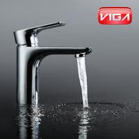 Chrome Plating Brass Single Handle Fashion Basin Faucet