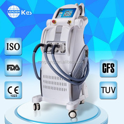 Wrinkle removal/ skin rejuvenation hair removal e light ipl rf beauty equipment