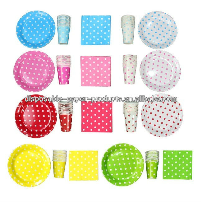 polka dot themed party supplies party themes dots and
