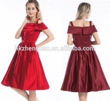 Swing fashion 40s 50s red&wine red cap sleeve rockabilly pinup dress women S-6XL