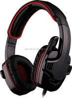 High perfermance 3.5mm cord nylon braided cable gaming headset strong bass game headphone with microphone