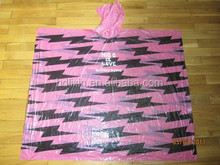 PE Material and Raincoats Style pe Disposable Custom Printed Rain Ponchos
