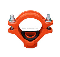 UL FM approved ductile iron grooved pipe fittings mechanical tee pipe joint products