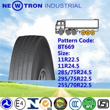 2015 china BOTO YOTO top brand BT669 front back new truck bus trailer tyre 295/75R22.5