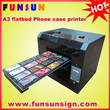 phone case printer/mobile phone cover printing machine,A3 size UV LED Flatbed Printer