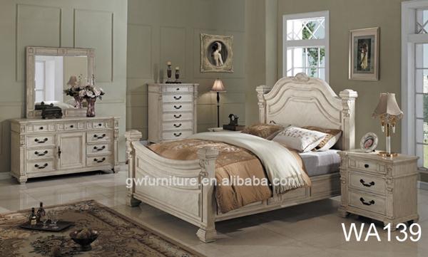 European Hand Carved Wooden Classic Luxury Bedroom Furniture WA142 View Bedr