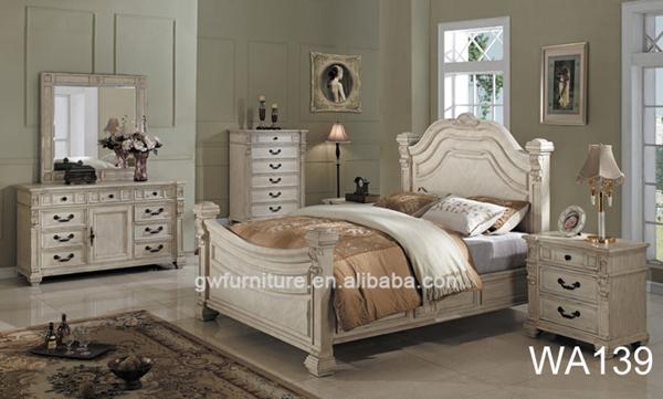 Hand Carved Bedroom Furniture : European hand carved wooden classic luxury bedroom furniture WA142 ...