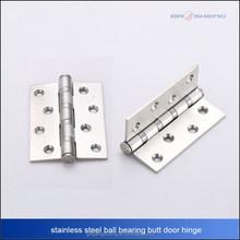 stainless steel 201 ball bearing butt door hinge