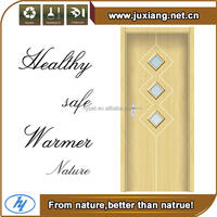 Friendly environment nature wooden like water/fire/insect proof indoor wood and plastic composite wpc front door