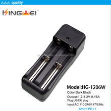Multiple battery charger, wireless wall dual chamber li-ion/ ni-mh battery charger