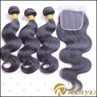 Xuchang Ruiyu raw unprocessed natural color virgin brazilian hair closure