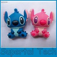 Hot selling New gadgets pvc cartoon Stitch usb pen drive 4gb