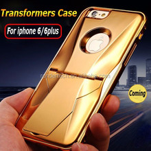 Luxury 360 degree protective phone case for iphone 6 6plus transformers cool phone case for iphone 6 6plus with stand