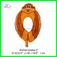 new arrival animal number foil balloon
