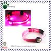 Pink Adjustable Flashing LED Collar Bling Dog Collar