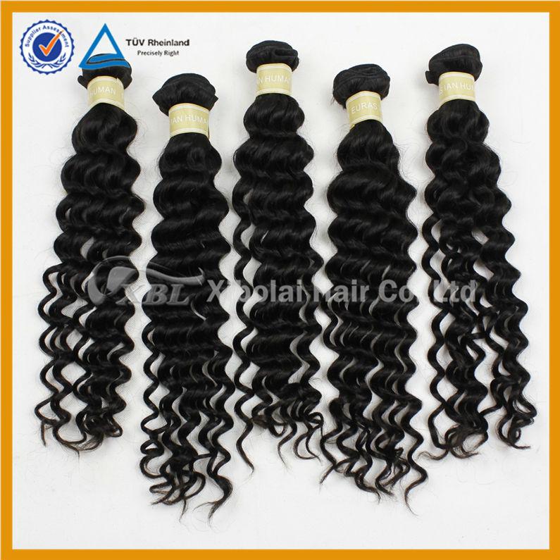 nueva llegada eurasian virgen profunda ola de extensiones de cabello humano