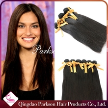 Brazilian Virgin Straight Hair One Donor Unprocessed Human Hair Extensions Natural Color With Shipping Fast