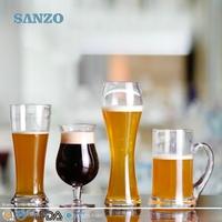SANZO Hand Blown Novelty Handpainted Beer Glass/Glassware