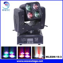 WLEDM-15-3 professional 4 pcs rgbw 4 in 1 15w leds wash led cool beam disco light