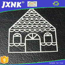 Wholesale cheap white metal brass house shaped labels