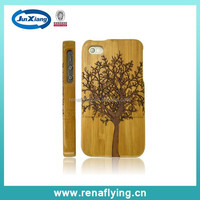 New high quality Wood Pattern Hard back Rubber case for iphone 5