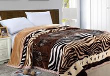 100% Polyester Animal Skin Printed blanket one layer raschel mink blanket 3KG