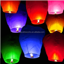Mix Color Chinse Flying Paper Lanterns Lucky Sky Wishing Latern Party Lamp