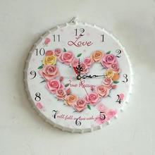 Country bar metal flower Bottle Cap antique Wall Clock
