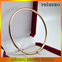 PRIMERO new fashion men and women Common titanium bangle 22k gold bangle bracelet