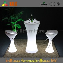 Club bistro furniture with led, cafe bistro furniture