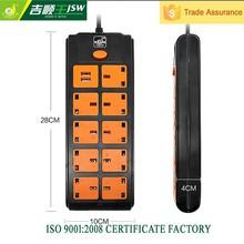 UK outlet with surge protector electrical 250v plug 3.5mm jack socket