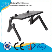 Promotional adjustable height cheap bedroom folding tables for laptop