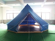 blue/pink colored bell tents