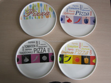 ceramic pizza plate LFGB STANDARD WHITE BODY AND DECAL