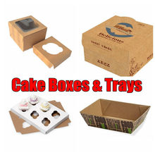 Disposable Plastic Cake Container Box, Customized UV Offset Printing Packaging Carton Manufacturer