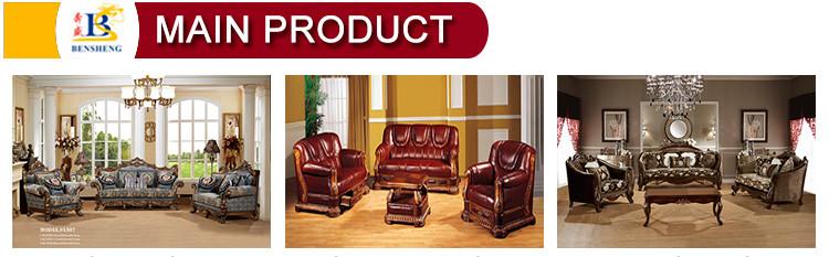 S1611 Alta Classe Mobília da Sala de estar Clássico Europeu 1 + 2 + 3 Sofá da Tela