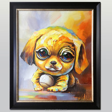 Modern design poppy dog painting