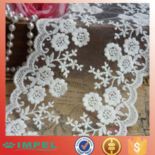 """2015 newest Lace Trim Ivory White Rose Embroidery Wedding Trim 4.33"""" width 2 yards"""