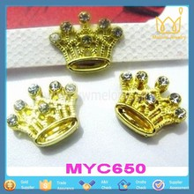 Snazzi Pet 8mm Slider Pet Collar Charms - Crown Tiara Crystal Beads