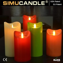 LED Candle With Realistic Flame, with USA and EU patent