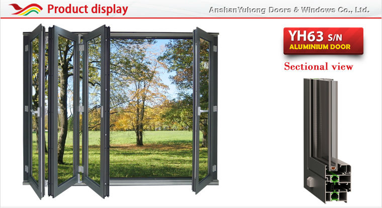 Innenraumfenster  aluninum rahmen Innenraum fenster akkordeon-Fenster-Produkt ID ...