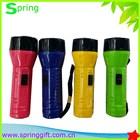 Plástico levou lanterna tocha com bateria seca / barato de Mini luz da tocha com corda