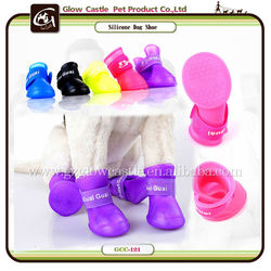 5 Colors 3 Size Waterproof Anti-Skid Pet Rain Boots