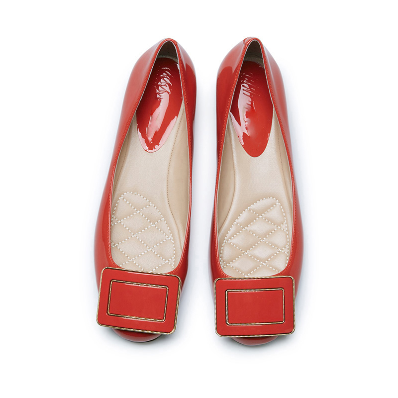 2015 colorful flat office hot womens shoes latest fashion shoes women patent shoes