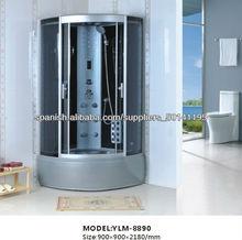 Completar Cabina de ducha Ducha gris con panel de control por ordenador