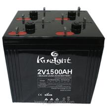 High capacity storage battery 2V 1500AH OPZV solar battery